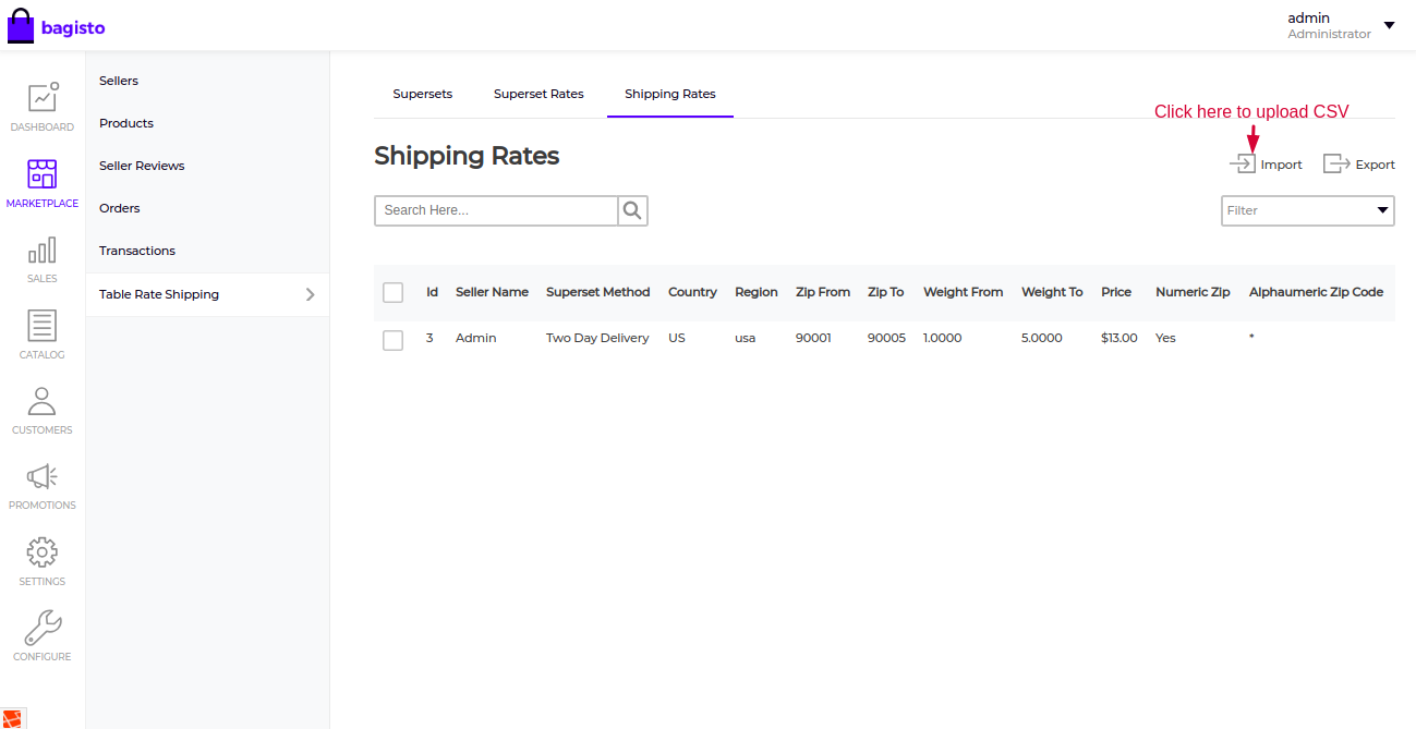 Laravel eCommerce Marketplace Table Rate Shipping Slider Image 6