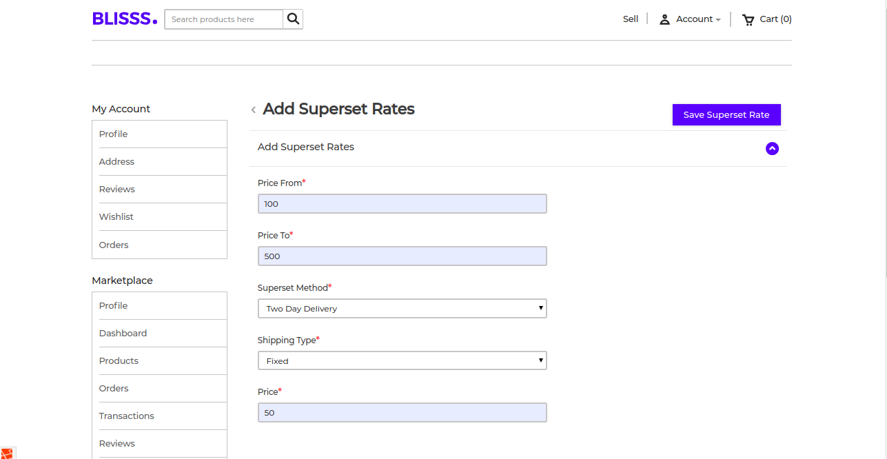 Laravel eCommerce Marketplace Table Rate Shipping Slider Image 9
