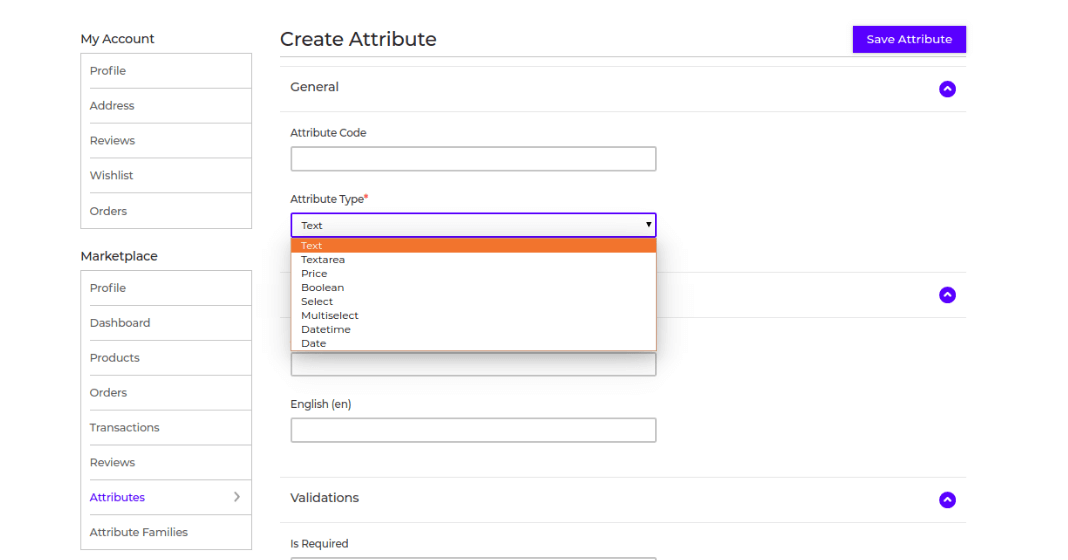 Laravel eCommerce Marketplace Custom Attribute Slider Image 3