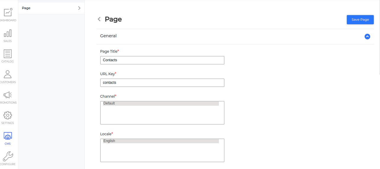 Add CMS pages