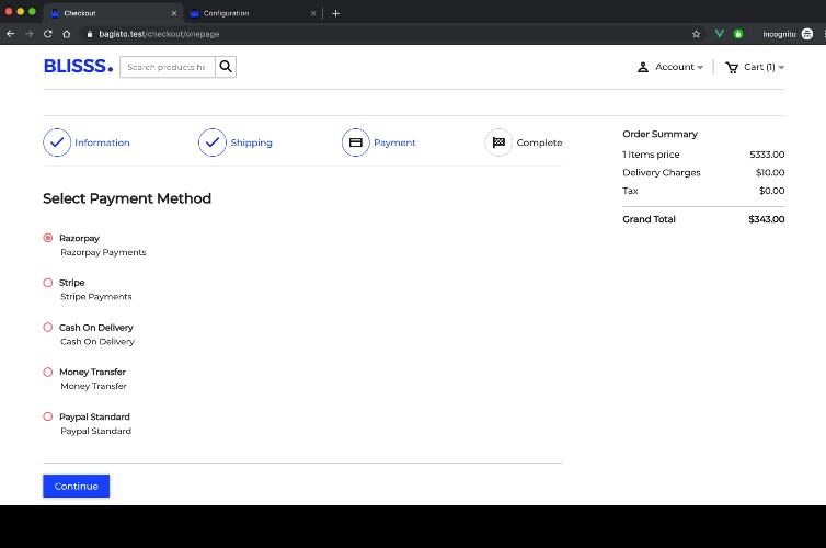 Laravel eCommerce RazorPay Payment Gateway Integration Slider Image 1
