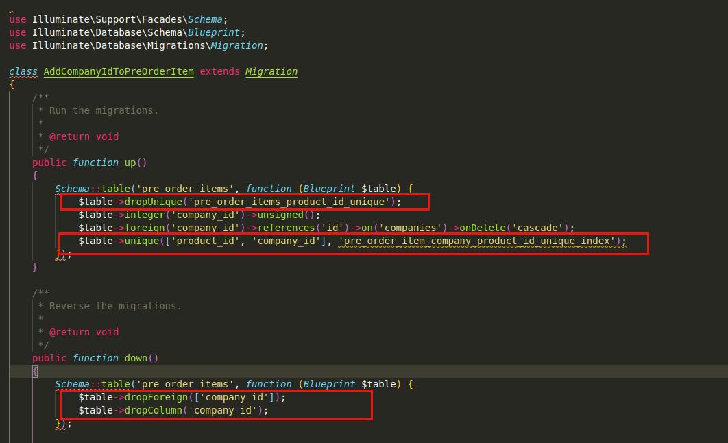 Add unique constrains in SaaS module
