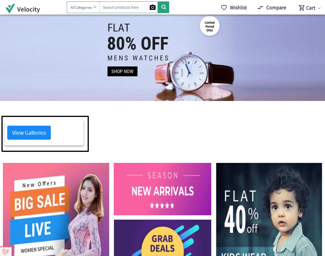 Laravel eCommerce Image Gallery Slider Image 1